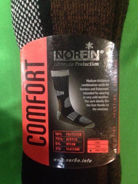 Фото Одежда для рыбаков и охотников, Термоноски, Вставки в обувь Термоноски Norfin Comfort
