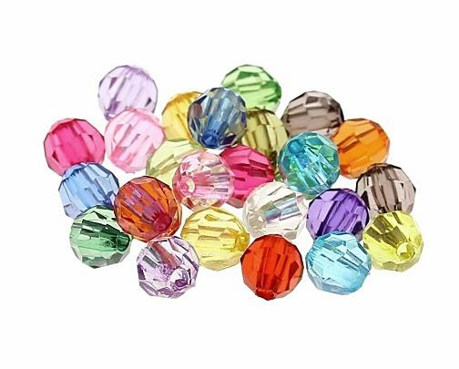 Фото Новинки Цветные  акриловые  бусины  5 - 6 мм.  Идут  в  смешени  , упаковочка  100 - 102 шт.