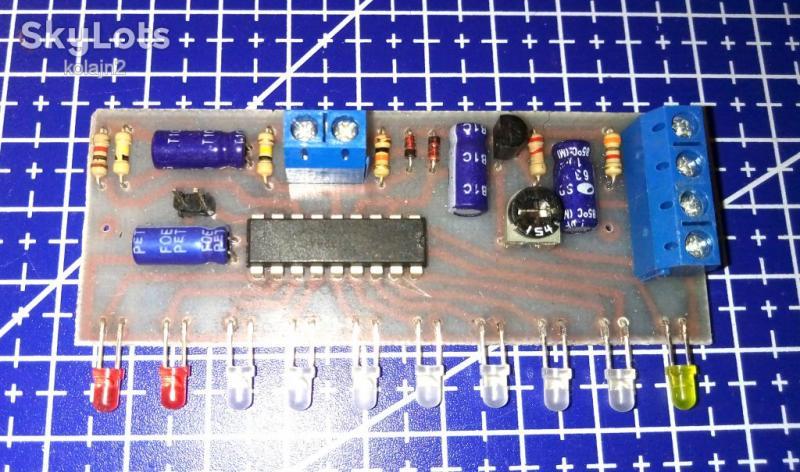 10-ти светодиодный индикатор уровня LM3915N (6-18В)