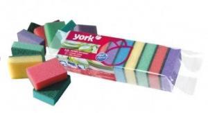Фото Хозяйственные товары (ЦЕНЫ БЕЗ НДС), Инвентарь для уборки, губки, коврики для пола, стремянки Губка кухонная для мытья посуды York Maxi, 10 шт/уп