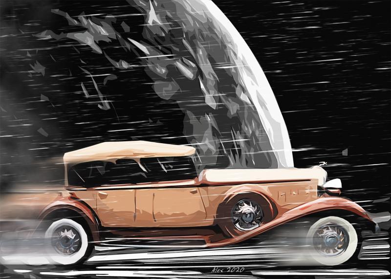 """Картина Крайслер Chrysler """"Полет сквозь время"""""""