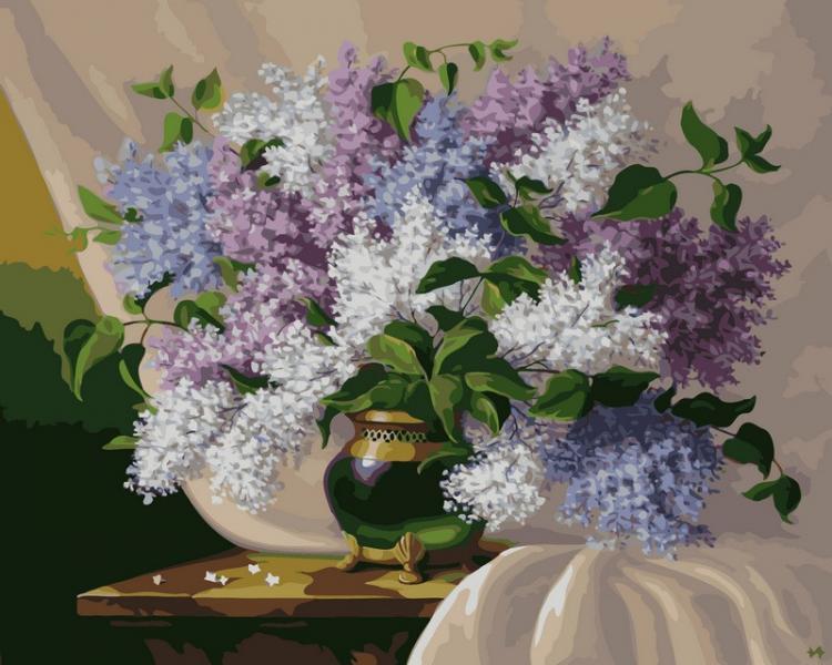 Фото Картины на холсте по номерам, Букеты, Цветы, Натюрморты VP 113