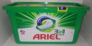 Фото Бытовая химия, Капсулы для стирки Капсулы для стирки Ariel pods, 38 штук. Для белого (Горная свежесть)
