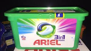 Капсулы для стирки Ariel pods, 38 штук. Для цветного белья.
