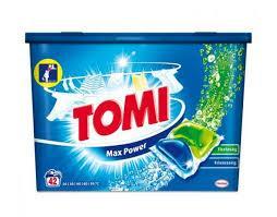Фото Бытовая химия, Капсулы для стирки Капсулы для стирки Tomi max power, 42 штуки. Универсальные.