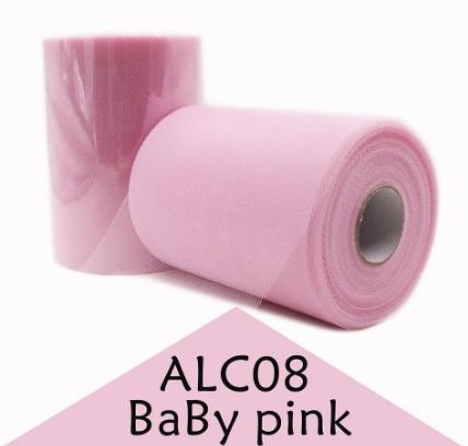 Фото Фатин ,регилин ,лазерная лента Фатин обычный  Нежно - Розового цвета . Ширина 15 см.