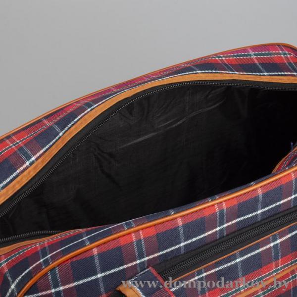 Фото ПОСМОТРЕТЬ ВЕСЬ КАТАЛОГ, Галантерея, Дорожные / спортивные сумки  Сумка дорожная, отдел на молнии, наружный карман, длинный ремень, цвет красный/синий