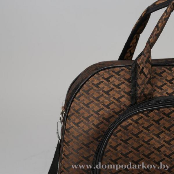 Фото ПОСМОТРЕТЬ ВЕСЬ КАТАЛОГ, Галантерея, Дорожные / спортивные сумки  Сумка дорожная, отдел на молнии, наружный карман, длинный ремень, цвет коричневый