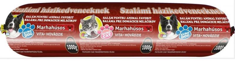 Колбаса Салями для Собак и Кошек 1 кг Говядина