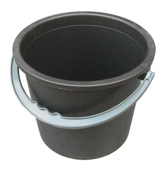 Ведро полиэтиленовое 8 литров черное (Юнипласт, Харьков)