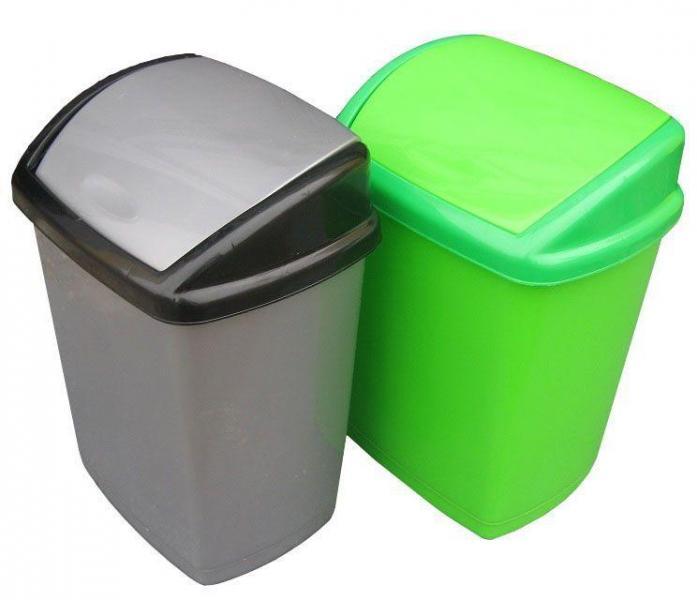 Ведро полипропиленовое для мусора Домик 16 литров Бежевое (Горизонт, Харьков)