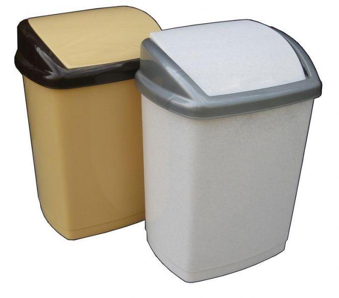 Ведро полипропиленовое для мусора Домик 27 литров Бежевое (Горизонт, Харьков)