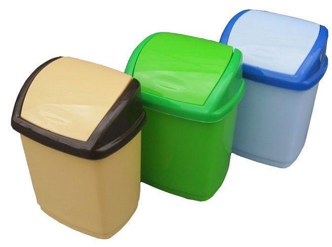 Ведро полипропиленовое для мусора Домик 1,7 литра Бежевое (Горизонт, Харьков)