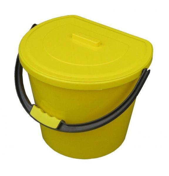Ведро пищевое полипропиленовое 11 литров пристенное с крышкой (Горизонт, Харьков)