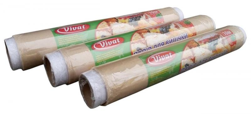 Бумага для выпекания коричневая Vivat 10м