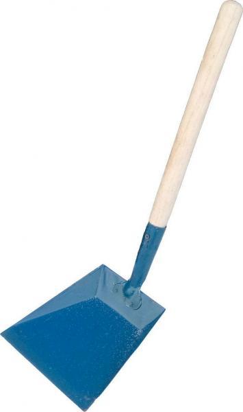 Совок для мусора металлический с деревянной длинной ручкой h=50 см (Вакула)