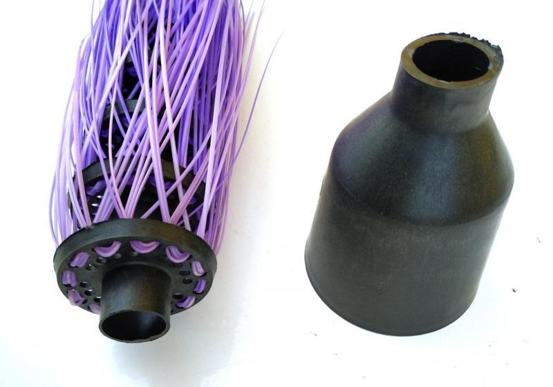 Метла пластиковая полипропиленовая круглая «Стандарт» без черенка (Зита)