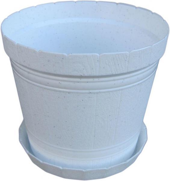 Горшок для цветов Кадушка с подставкой 2,5 л белый
