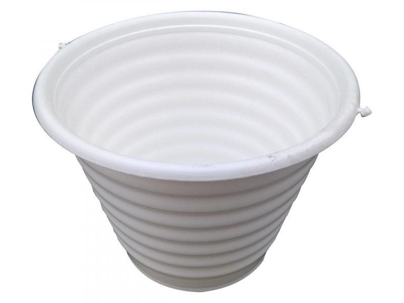 Горшок для цветов ребристый Ø 170 мм 1,5 литра белый (Юнипласт, Харьков)