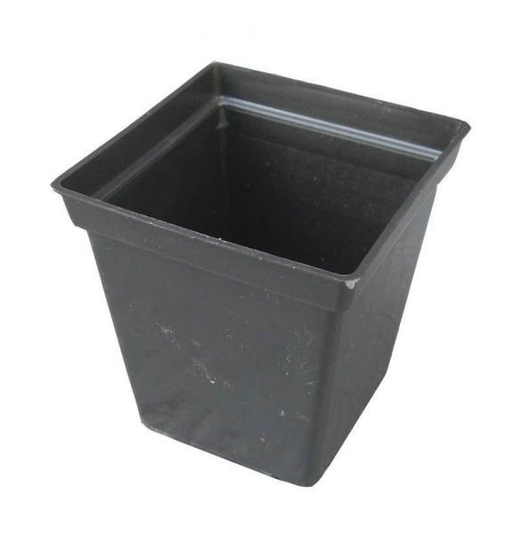Горшок для рассады с толстой стенкой 0,5 литра  черный (ЧП КВВ, Харьков)