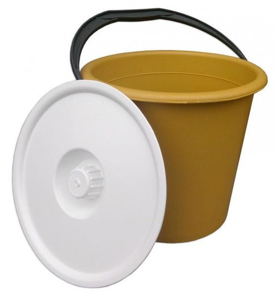 Ведро п\э 10 литров цветное хозяйственное с крышкой (ХАРПЛАСТМАСС)