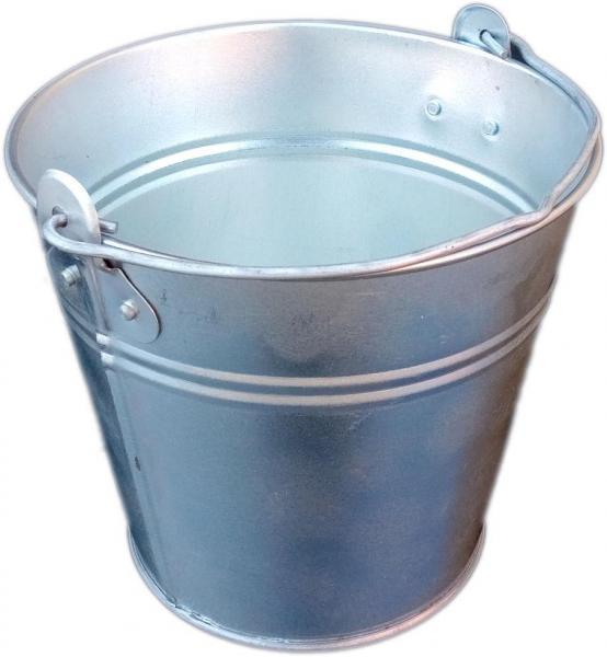 Ведро 2 литра оцинкованное одношовное (Метид, Днепр)