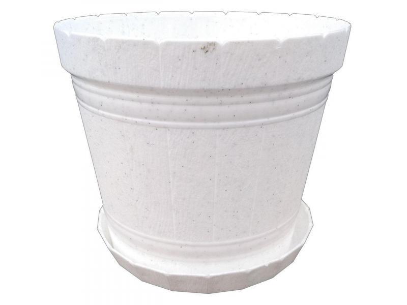 Горшок для цветов Кадушка с подставкой 5л белый