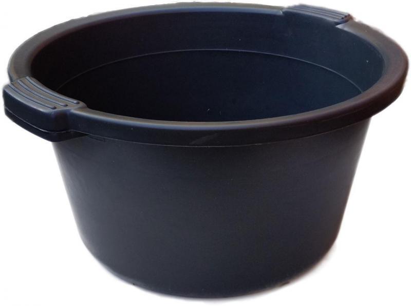 Таз полиэтиленовый 24 литра чёрный (ХАРПЛАСТМАСС)