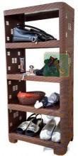 Этажерка пластиковая «Ротанг» на 5 ярусов коричневая (ПолимерАгро, Харьков) - Полки и этажерки для ванных комнат в Харькове