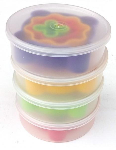 Набор форм для печенья из пластика (4 формы + коробочка для хранения)