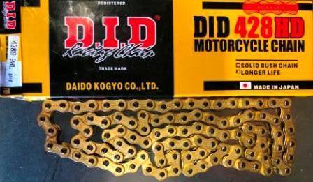 Цепь 428H- 98L  gold     D.I.D.  качество