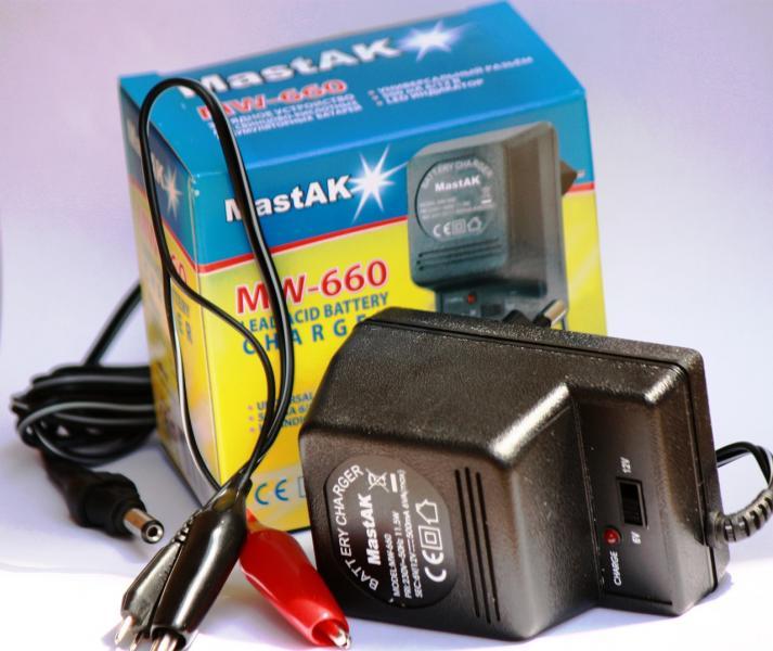 Зарядное устройство для скутера 12/6V-0,5A (универсальное)