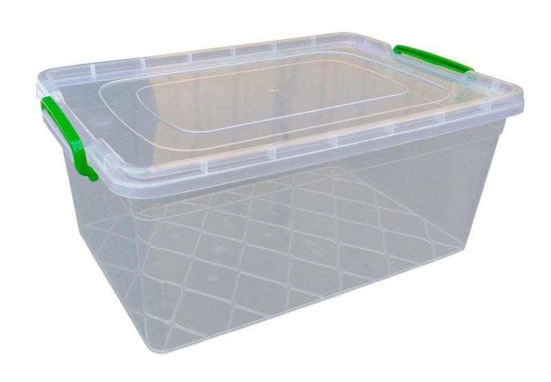 Пищевой контейнер с защелками 15 литров глубокий(Горизонт)
