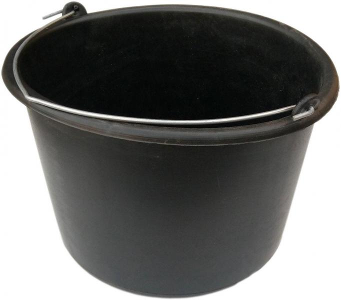 Ведро строительное 12 литров полиэтиленовое мягкое (АВС)