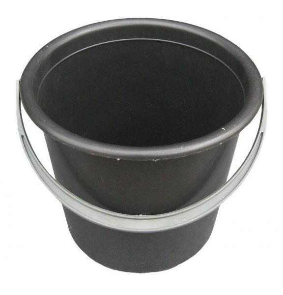 Ведро полиэтиленовое 5 литров чёрное (Юнипласт, Харьков)