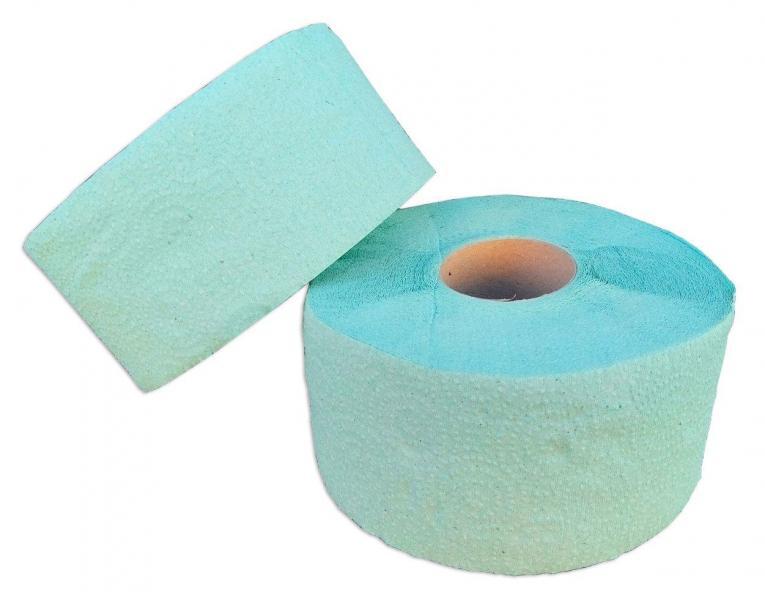 Туалетная бумага «Джамбо» однослойная зелёная с перфорацией. В рулоне 100 м (Green ix)