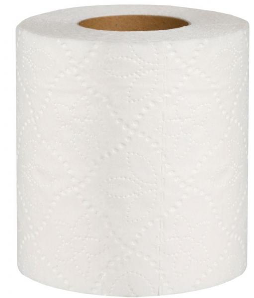 Туалетная бумага белая двухслойная с перфорацией. 100% целлюлоза 18 м в рулоне. В уп. 4 шт (Green ix)