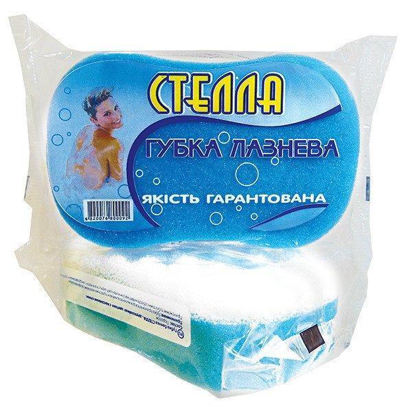 Мочалка губка для ванной и бани Vivat «Стелла» из поролона (175×100×45 мм)