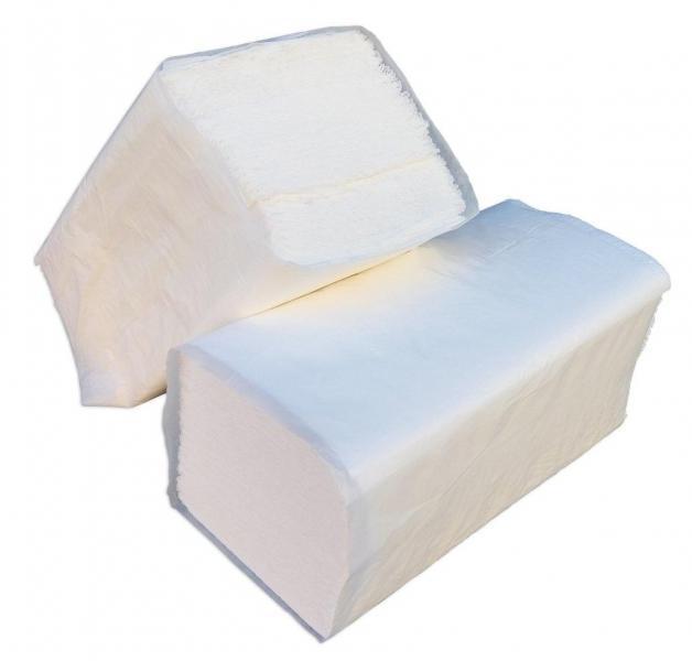 Бумажные полотенца белые V – образного сложения для диспенсеров (100% целлюлоза) (Green ix)