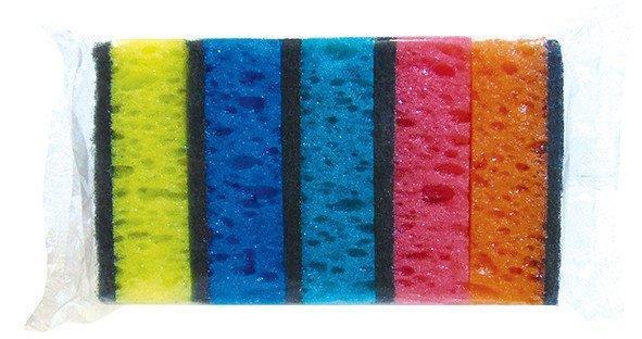 Губка для мытья посуды кухонная Vivat «Макси» крупнопористая (сыр) (90×60×30 мм) 5 шт/уп