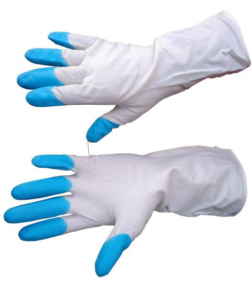 Перчатки резиновые Дельфин - размер L