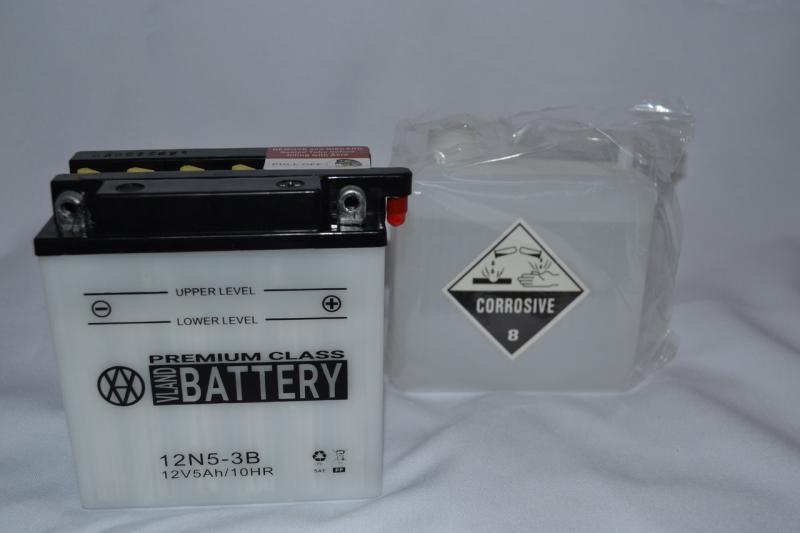 Аккумулятор 12V 5Ah кислотный высокий (120х60х130) 12N5-3B BATTERY