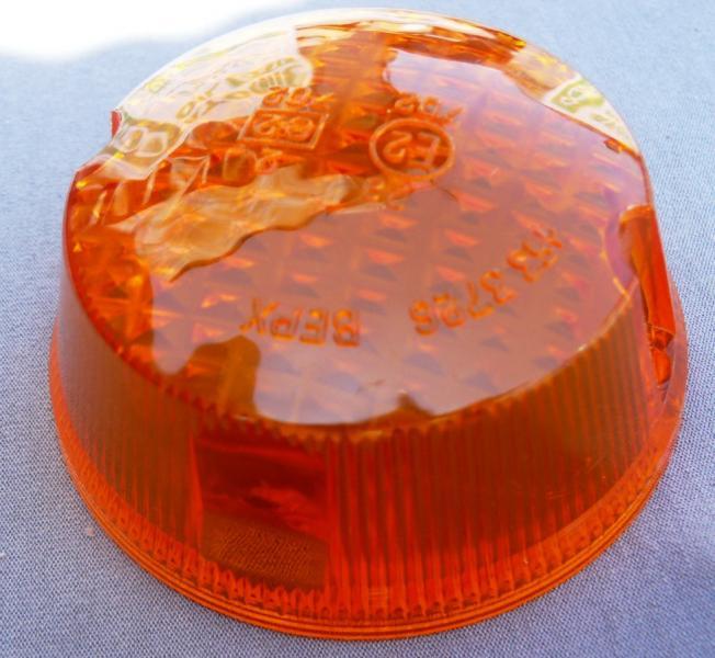 Стекло поворотов круглое МТ ИЖ низкое оранжевое