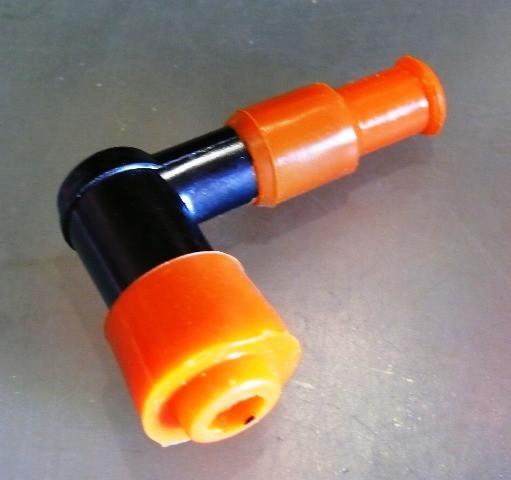 Надсвечник DELTA c силиконовой резинкой (оранжевый)