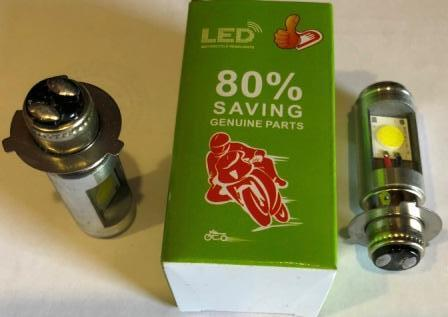 Лампа фары LED ( 2 диода ) 3 ус со стабилезатором