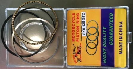 Кольца поршневые GY6-125 DELTA-110 std (качество)