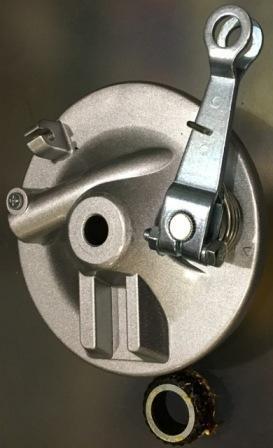 Крышка передняя тормозного барабана с колодками DELTA