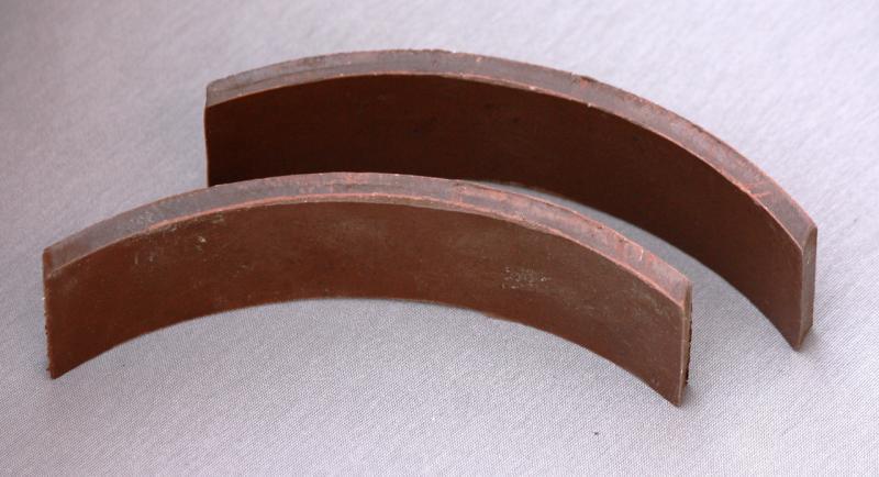 Накладки тормозные МТ (пара) с заклёпками
