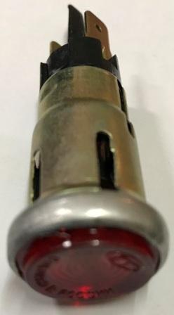 Глазок панели приборов МТ красный с лампочкой