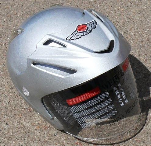 Шлем AD-168 серебро без бороды